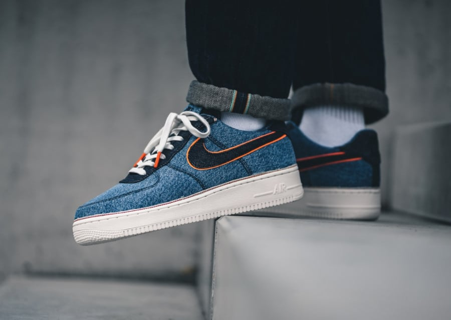 Nike Air Force 1 '07 Premium Stonewash Blue (2)