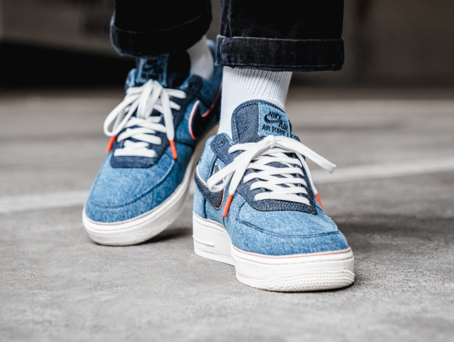 Nike Air Force 1 '07 Premium Stonewash Blue (5)