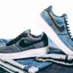 3x1 Denim x Nike Air Force 1 '07 Premium Stonewash Blue & Black
