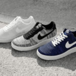Nike Air Force 1 Flyknit 2.0 Triple White, Oreo & College Navy