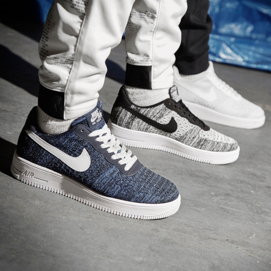 nike air force 1 flyknit bleu marine
