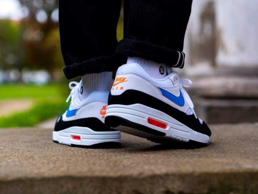 Nike Air Max 1 White Photo Blue Total Orange (1)