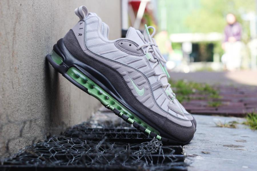 Nike Air Max 98 grise et vert menthe (2)