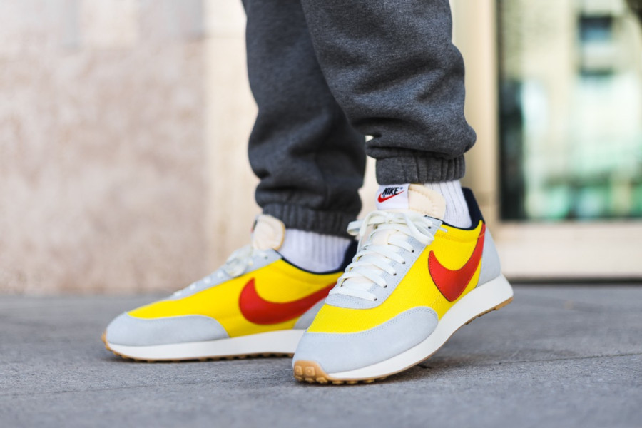 Nike Air Tailwind 79 grise jaune et orange (2)