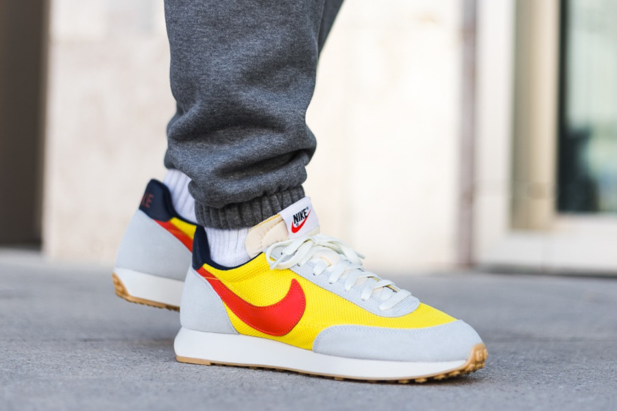 Nike Air Tailwind 79 grise jaune et orange (4)