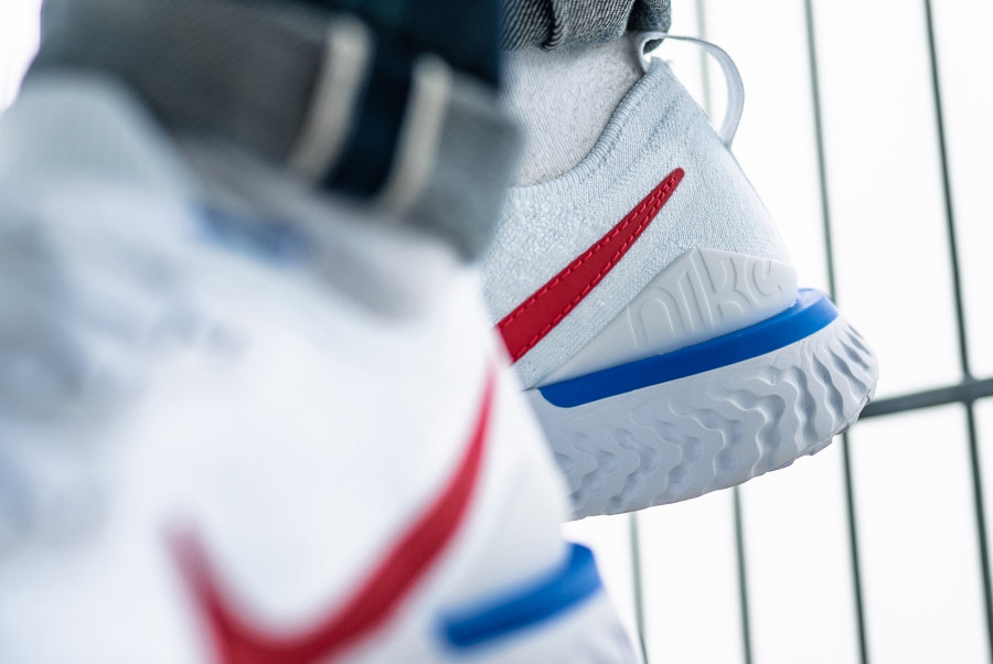 Nike Epic React Flyknit 2 Cortez OG White Blue Red (1-1)