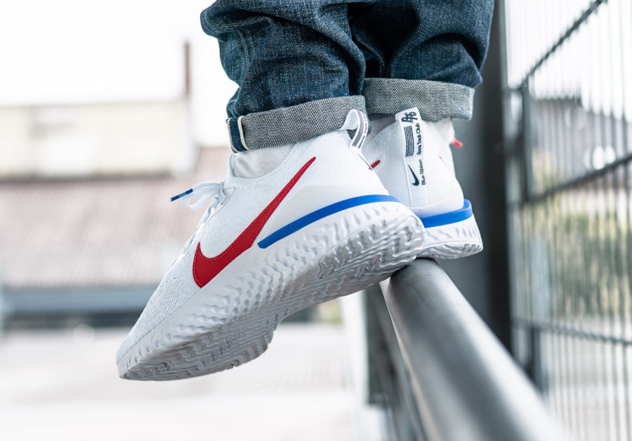 Nike Epic React Flyknit 2 Cortez OG White Blue Red (1)