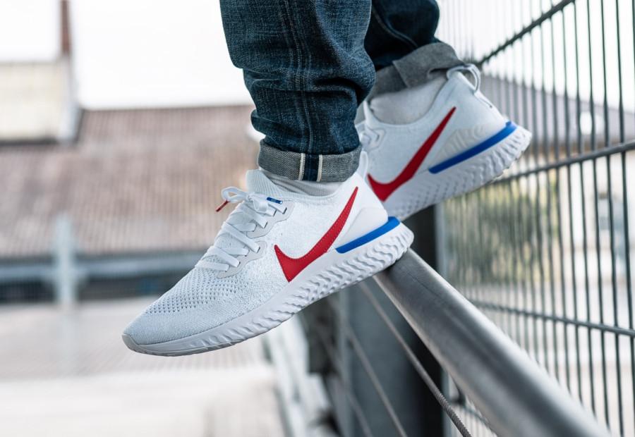 Nike Epic React Flyknit 2 Cortez OG White Blue Red (2)