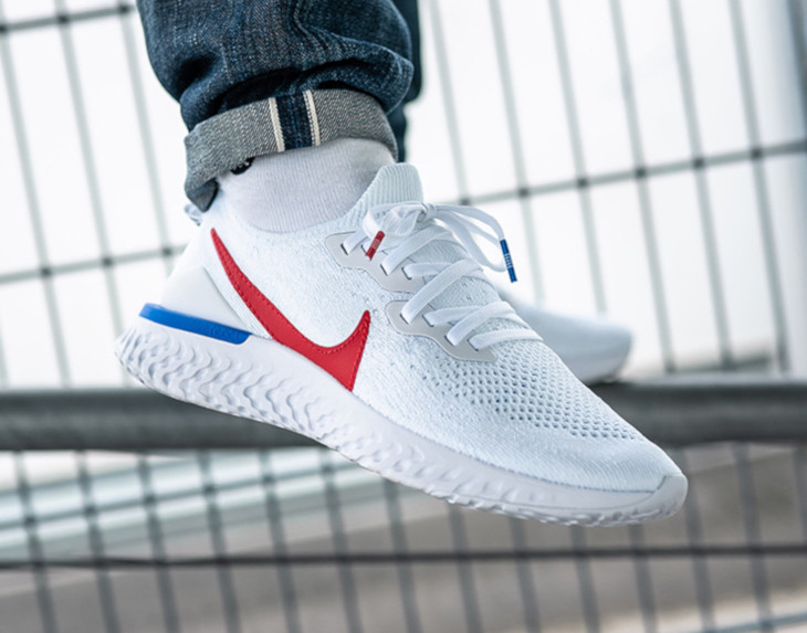 Nike Epic React Flyknit 2 Cortez OG White Blue Red (5)