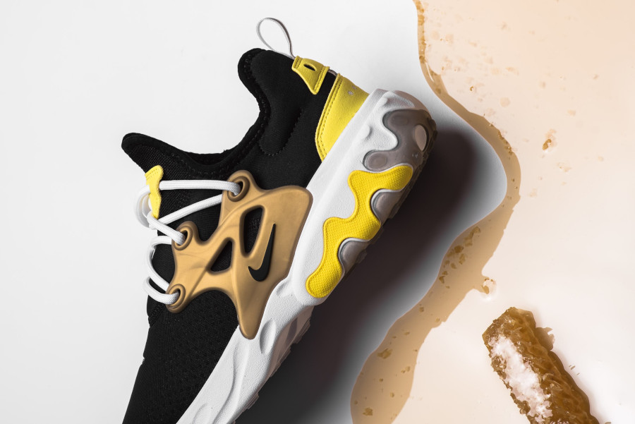 Nike React Presto Black Yellow Streak (5)