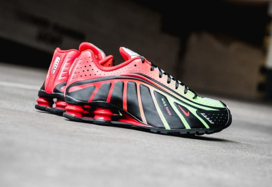 Nike Shox R4 Black Lime Blast Challenge Red (BV1387-001) (3)