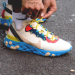 Nike Wmns React Element 55 Light Cream Desert Ore Blue Fury