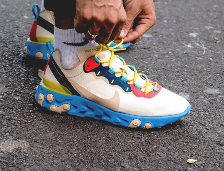Nike Wmns React Element 55 Light Cream BQ2728-201