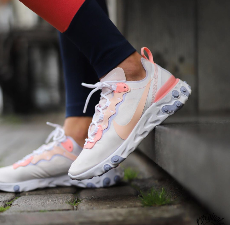 Nike Wmns React Element 55 Pale Pink BQ2728-601