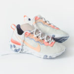 Nike Wmns React Element 55 Pale Pink Washed Coral Oxygen Purple