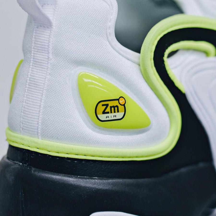 Nike Zoom 2K blanche noire et vert fluo (1)