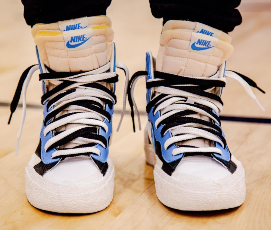 Sacai x Nike Blazer Mid Black White University Blue BV0072-001 (1)