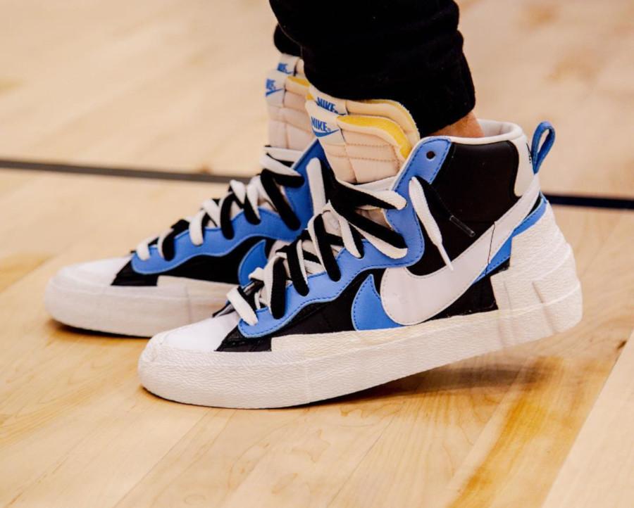 Sacai x Nike Blazer Mid Black White University Blue BV0072-001 (2)