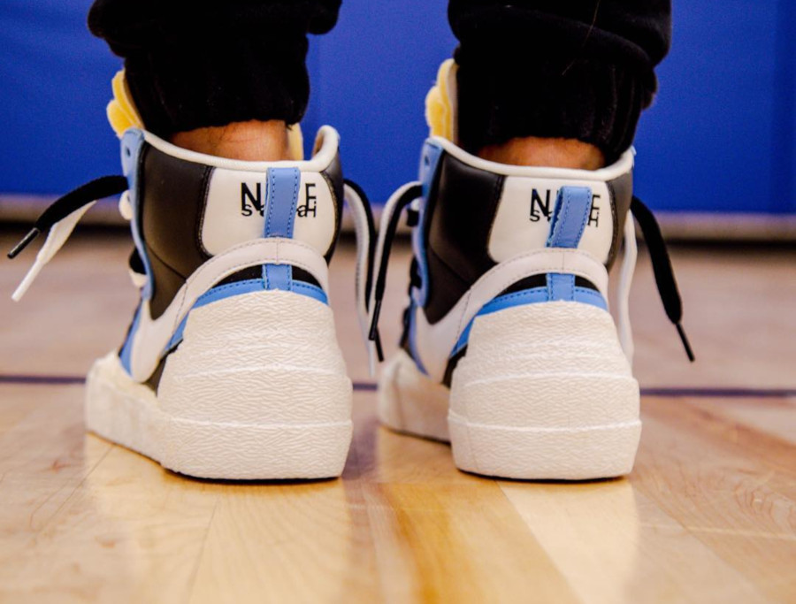 Sacai x Nike Blazer Mid Black White University Blue BV0072-001 (3)