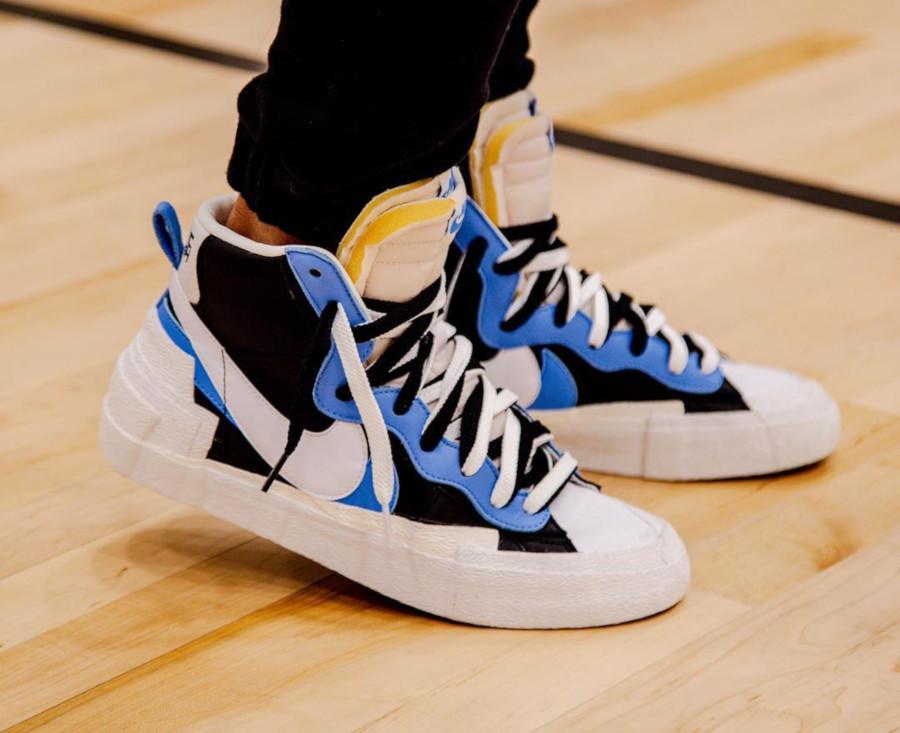 Sacai x Nike Blazer Mid Black White University Blue BV0072-001 (4)
