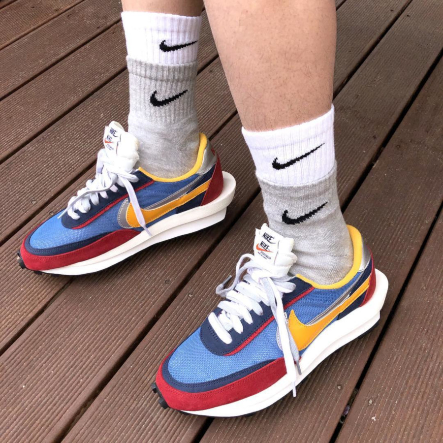 in stock online for sale wholesale sales Que valent les Nike Sacai LDWaffle SS19 Multi Green & Blue ?