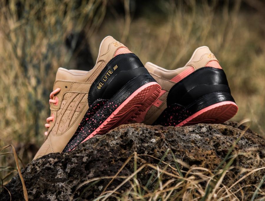 Sneaker Freaker x Asics Gel Lyte 3 'Tiger Snake' Beige Pink (2)