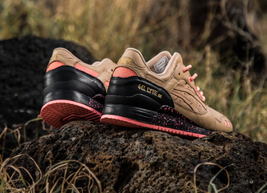 Sneaker Freaker x Asics Gel Lyte 3 'Tiger Snake' Beige Pink (5)