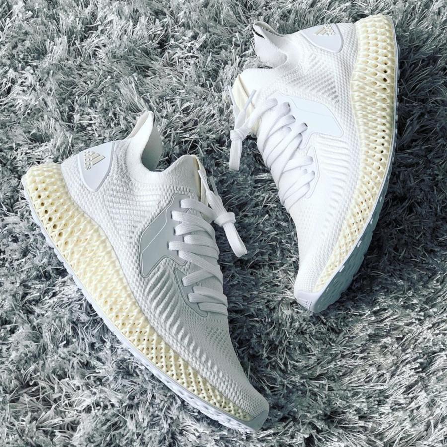 Adidas Alphaedge 4D 2.0 Ftwr White Pearl Grey (2)