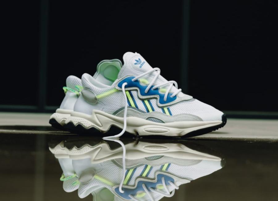 Adidas Ozweego 2019 blanche grise bleu et vert fluo (3)