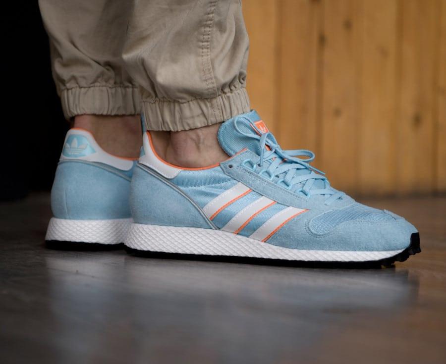 Adidas-Silverbirch-Spezial-bleu-ciel-blanche-et-orange-2