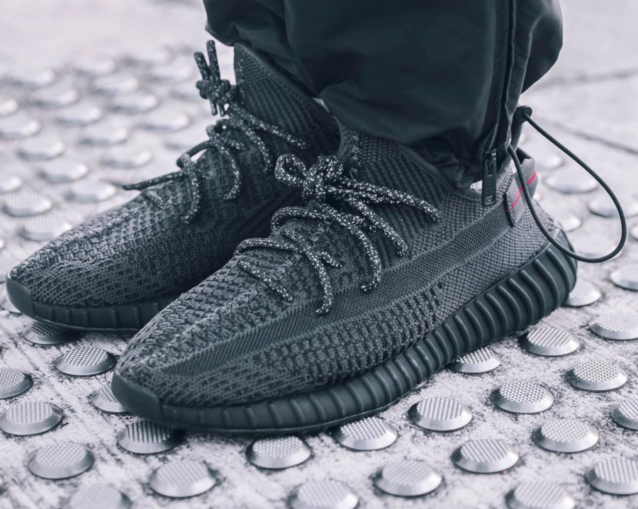 Adidas Yeezy 350 V2 'Pirate Black 2.0' on feet (1)