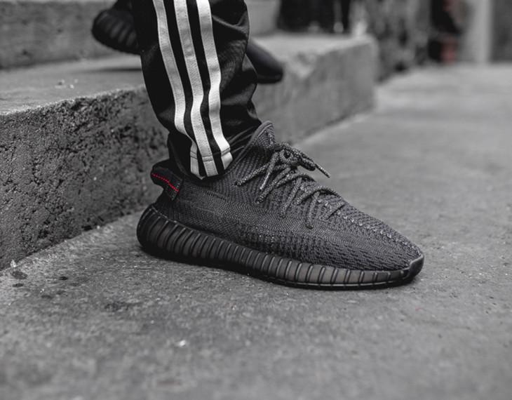 Adidas Yeezy 350 V2 'Pirate Black 2.0' on feet (2)