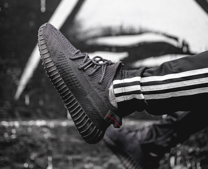 Adidas Yeezy 350 V2 'Pirate Black 2.0' on feet (3)
