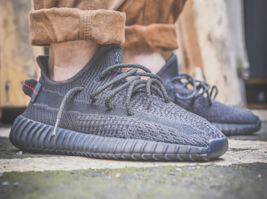 Adidas Yeezy 350 V2 'Pirate Black 2.0' on feet (4)