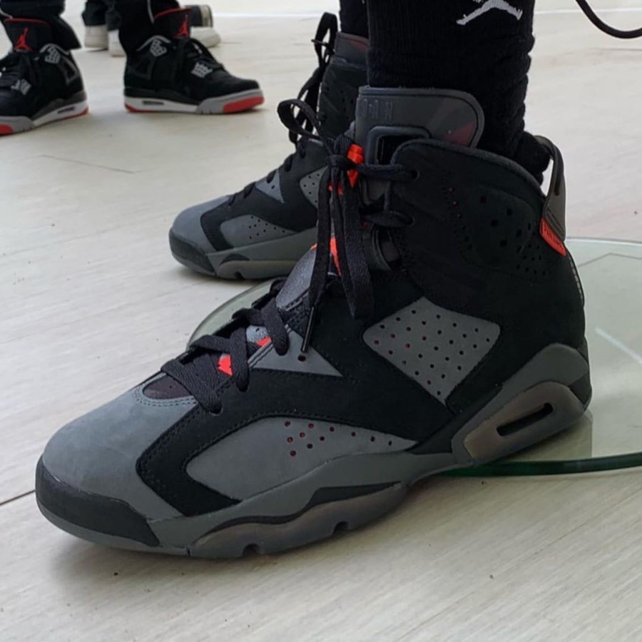 Air Jordan 6 Retro PSG 75 'Paname' Black Infrared