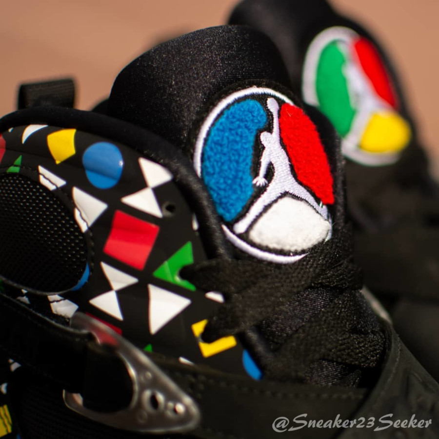 Air Jordan VIII Black White Multicolor CJ9218-001 (1-1)