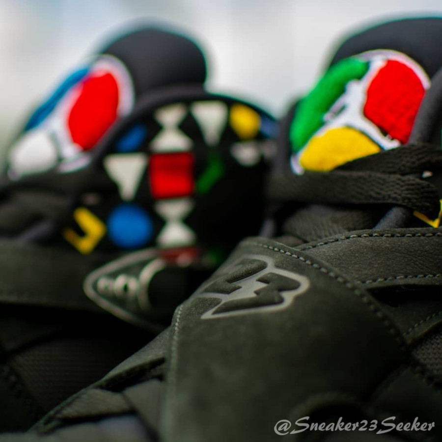Air Jordan VIII Black White Multicolor CJ9218-001 (4)