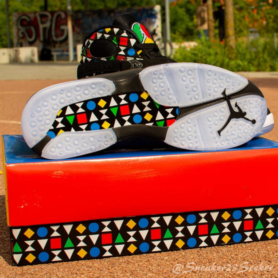 Air Jordan VIII Black White Multicolor CJ9218-001 (5)