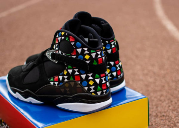 Air Jordan VIII Black White Multicolor CJ9218-001 (couv)