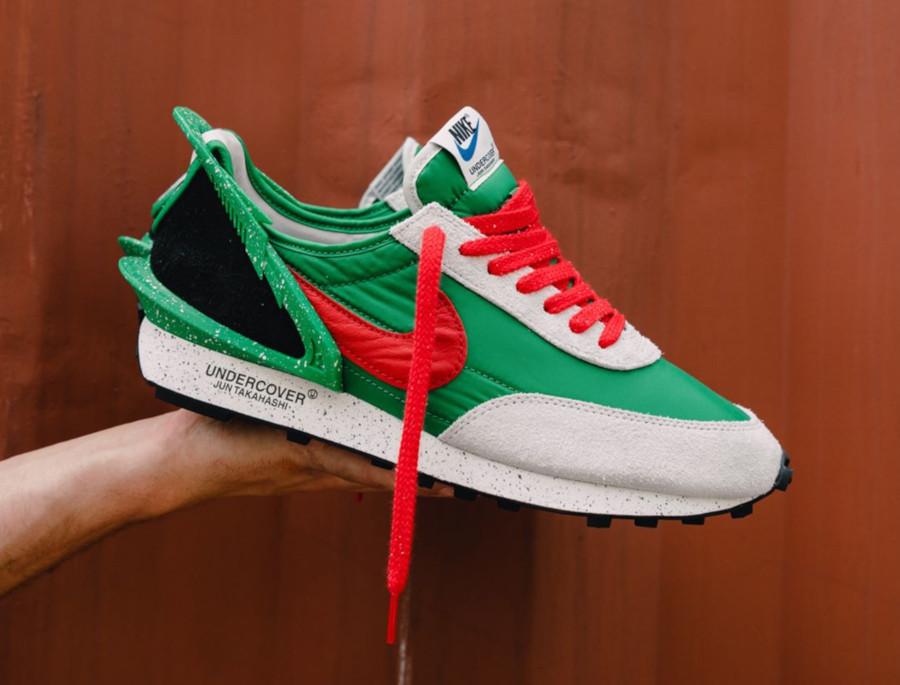 Jun Takahashi x Nike Daybreak vert, rouge et blanc cassé (3)