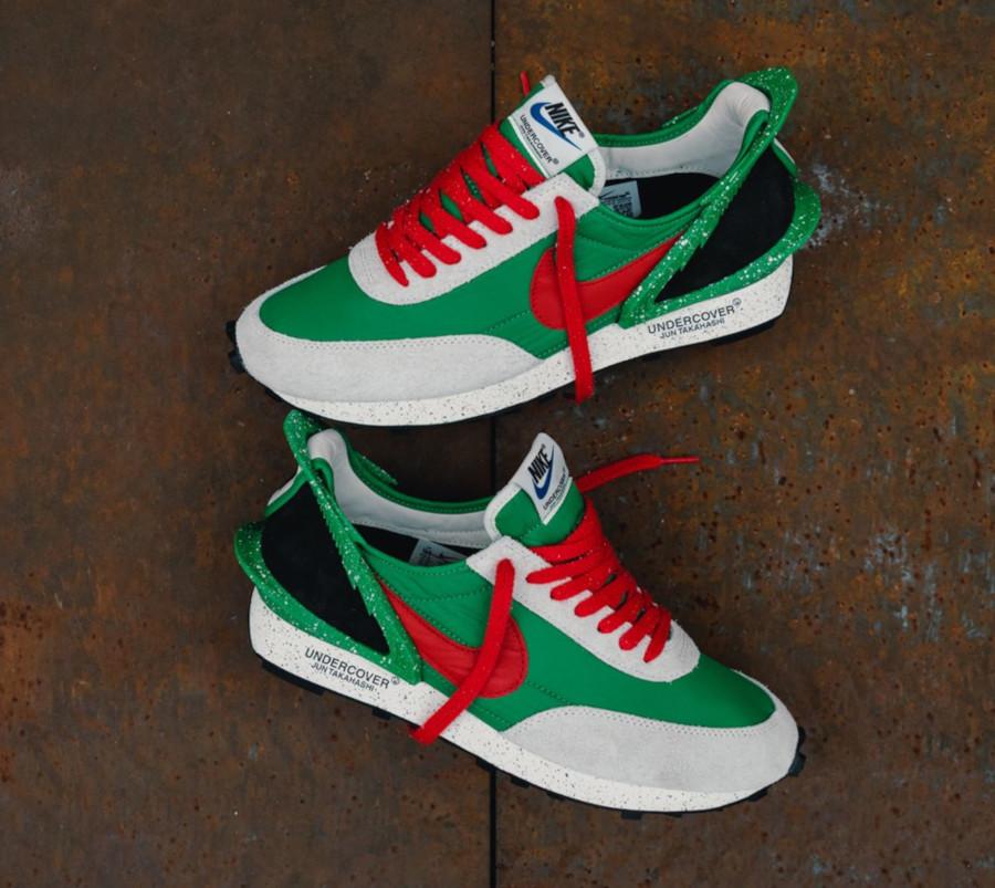 Jun Takahashi x Nike Daybreak vert, rouge et blanc cassé (4)