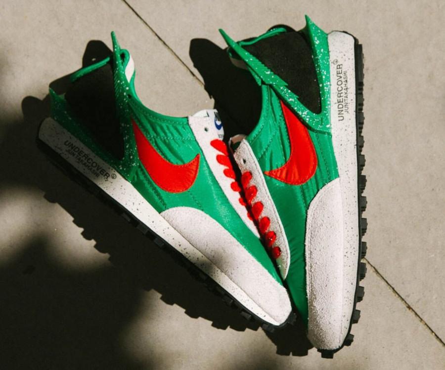 Jun Takahashi x Nike Daybreak vert, rouge et blanc cassé (5)