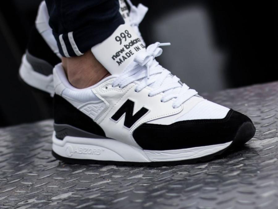 New Balance 998 Premium blanche et noire (2)