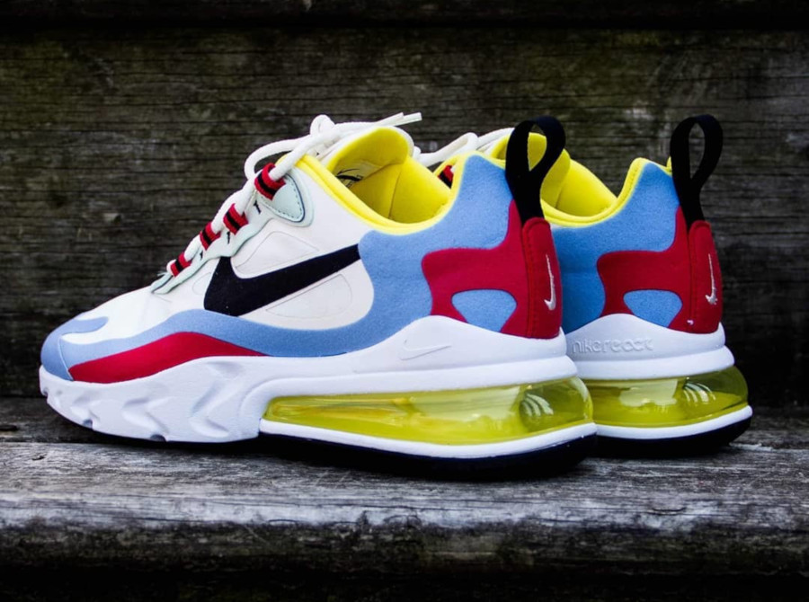 Nike AM270 Element 87 blanche bleu ciel et rouge (1)