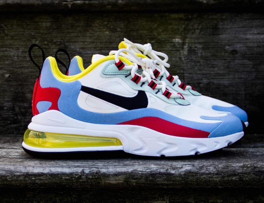 Nike AM270 Element 87 blanche bleu ciel et rouge (3)