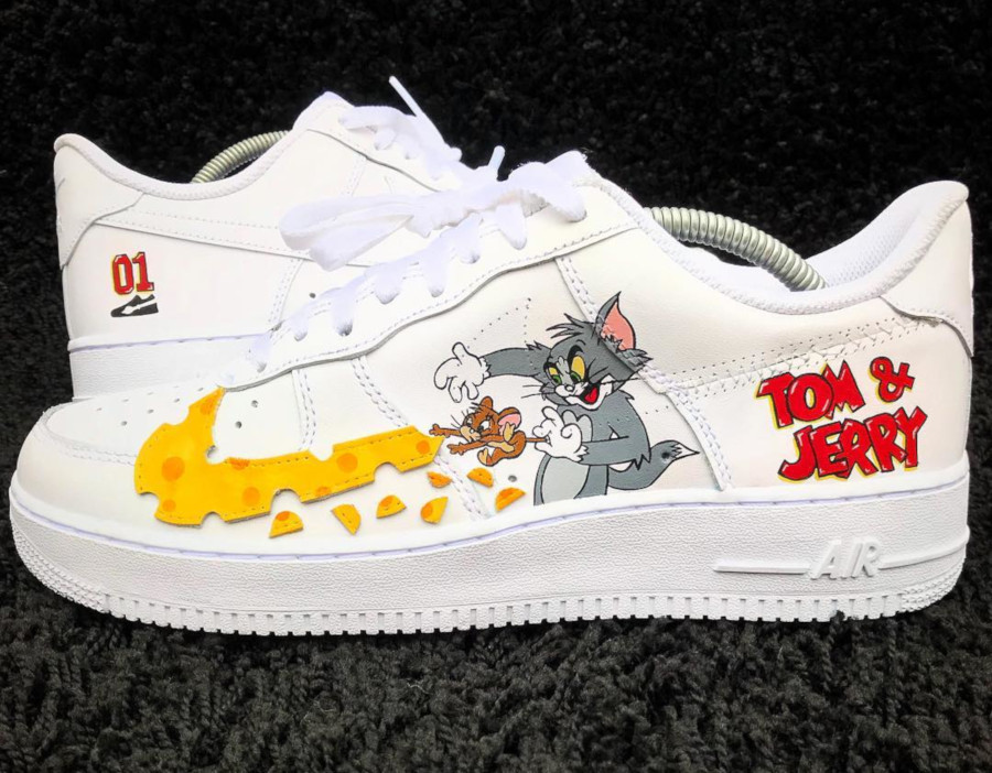 Nike Air Force 1 Low Tom et Jerry (2)