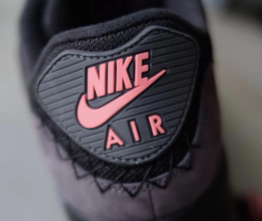 Nike Air Max 90 Premium noire et rose corail (3)