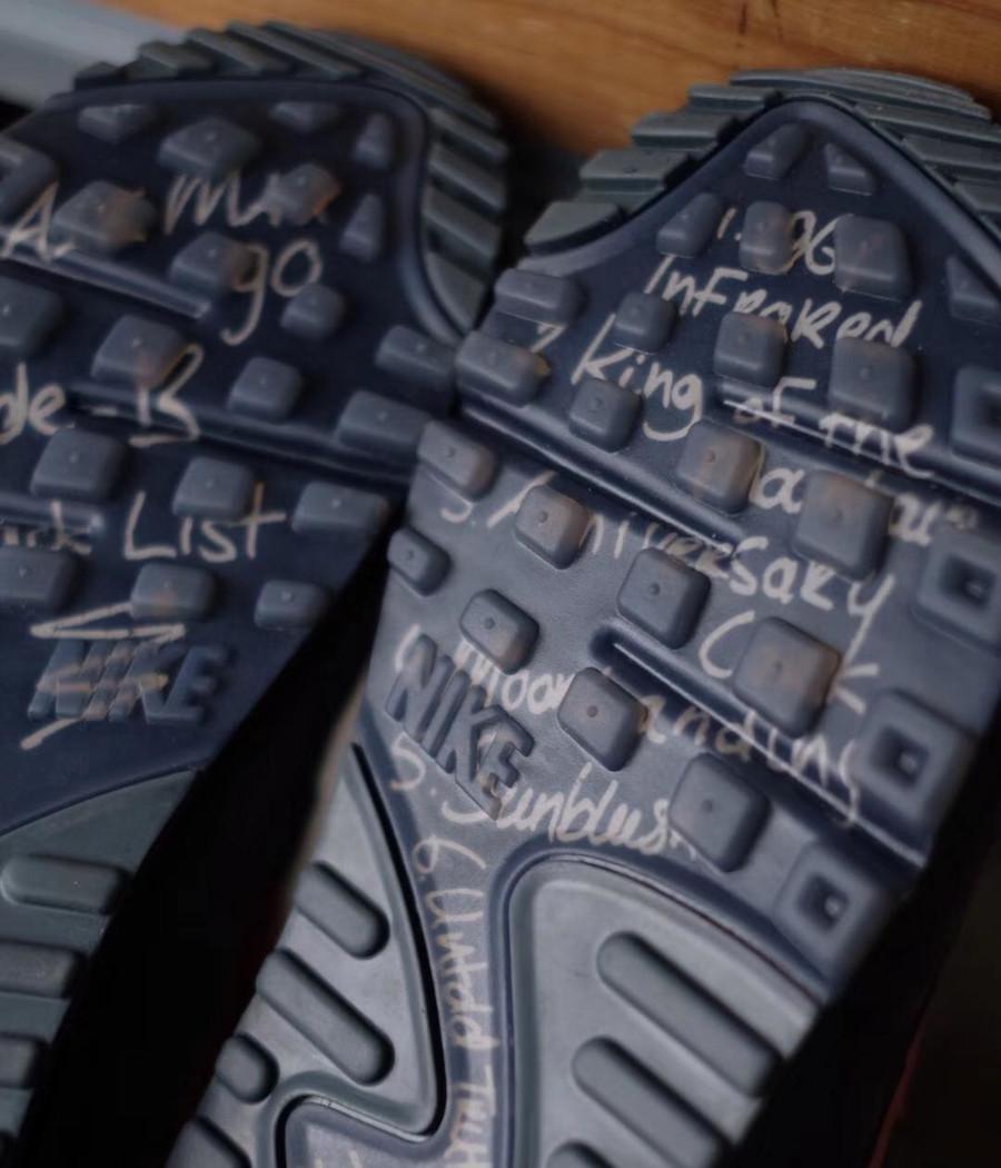 Nike Air Max 90 Premium noire et rose corail (4)