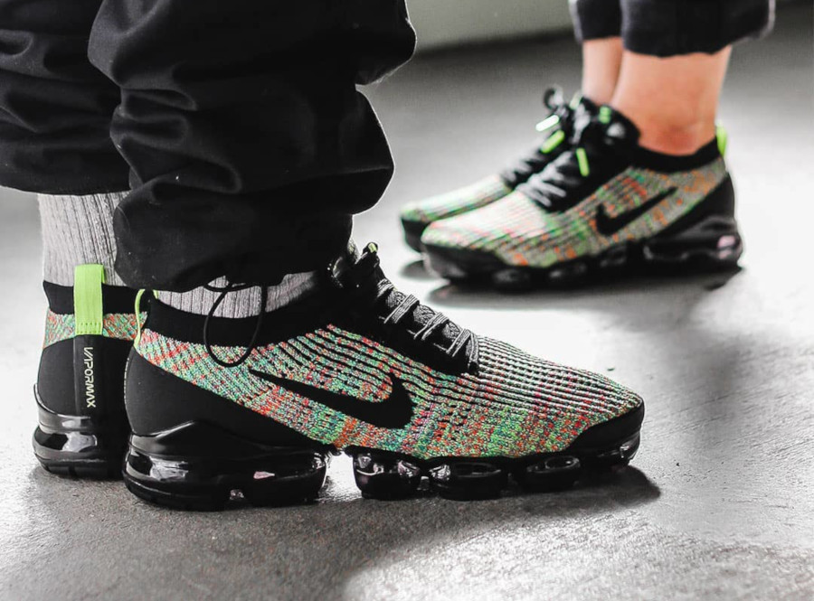Nike Air Vapormax Flyknit 3.0 Black Multicolor (4)