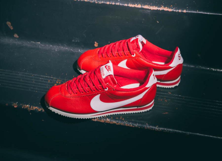 Nike Cortez Classic rouge et blanche CK1907-600 (2)